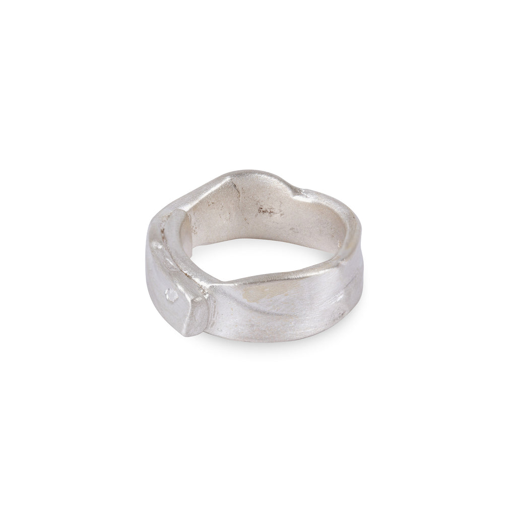 Sterling Silver Wavy Overlap Ring