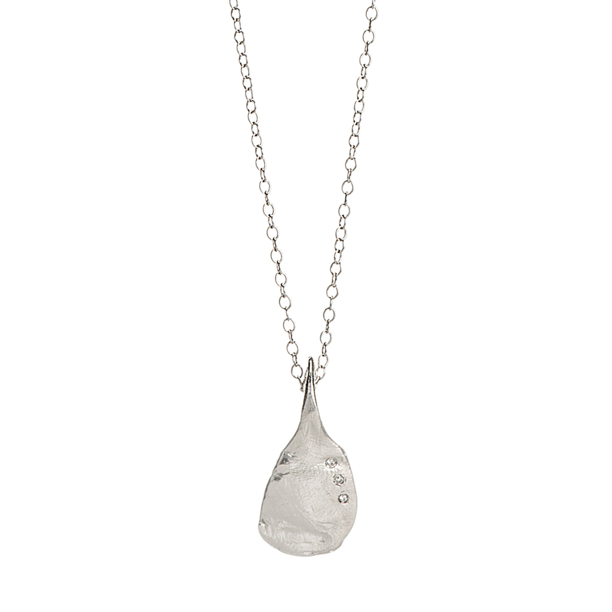Sterling Silver Chain Necklace With Diamonds