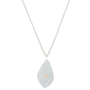 sterling silver chain opal pendant necklace fashion vogue jewelry