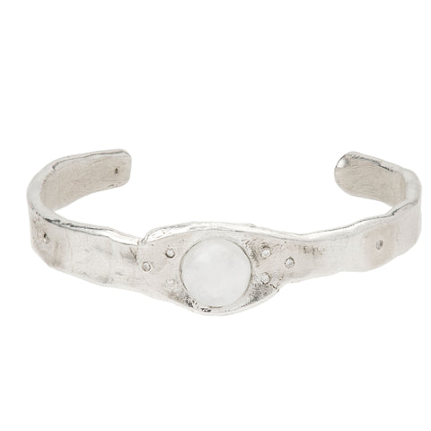 Moonstone & Diamond Cuff