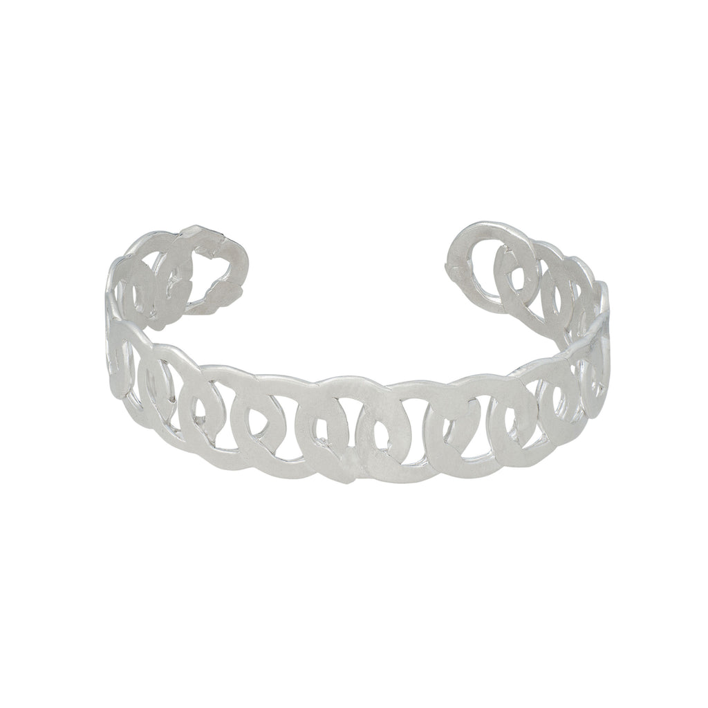 Sterling Silver Link Cuff
