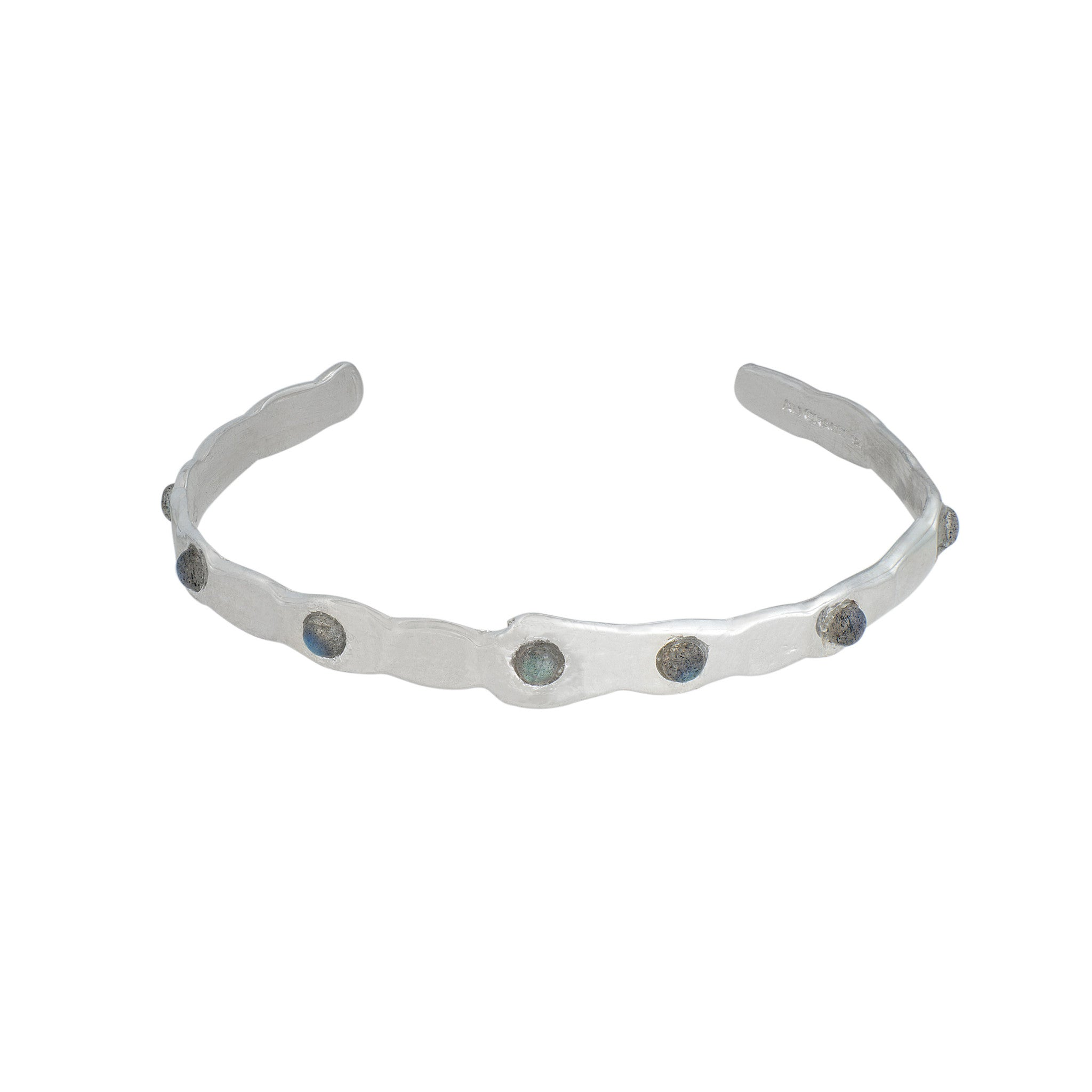Thin Labradorite and Sterling Silver Cuff Bracelet