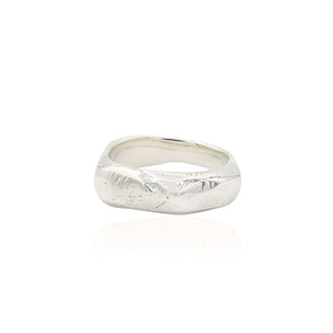 sterling silver sculpted band ring alternative wedding band fashion style