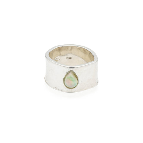 opal sterling silver handmade ring jewelry new york city cool girl style
