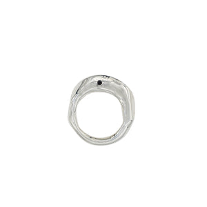 diamond ring silver fashion handmade in new york usa