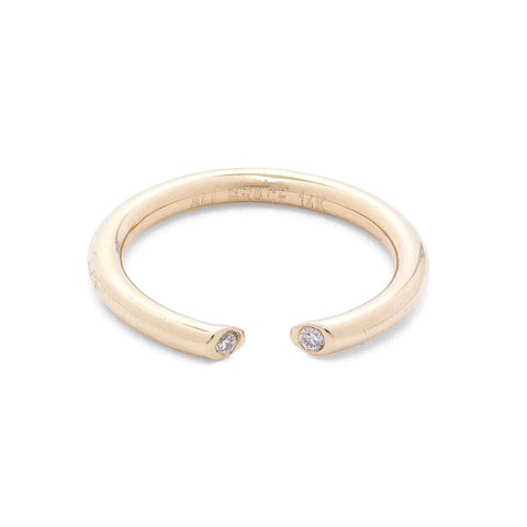 Yellow Gold & Diamond Open Ring