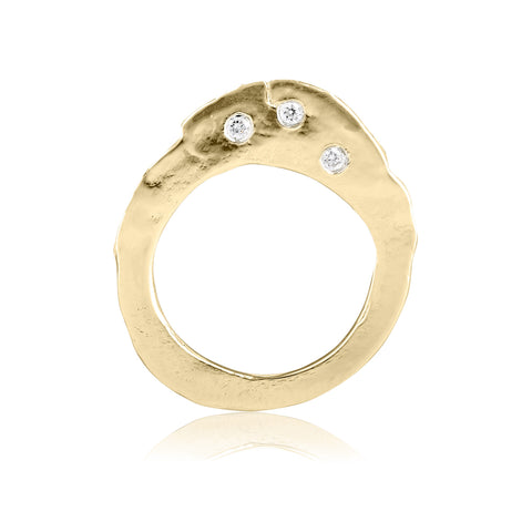 gold diamond ring fine jewelry engagement ring alternative bride
