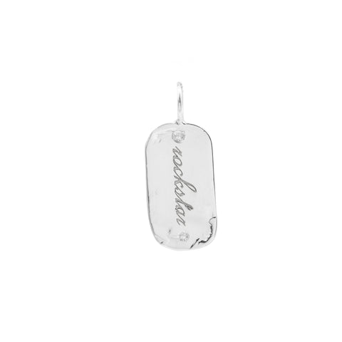 sterling silver custom charm diamond jewelry