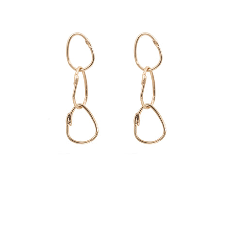 rose gold drop earrings hoop earrings statement jewelry
