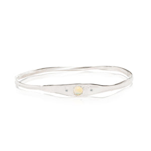 diamond bangle bracelet with opals