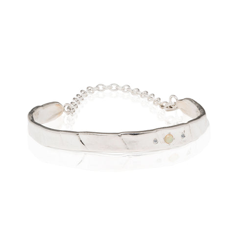 chain cuff bracelet with diamonds