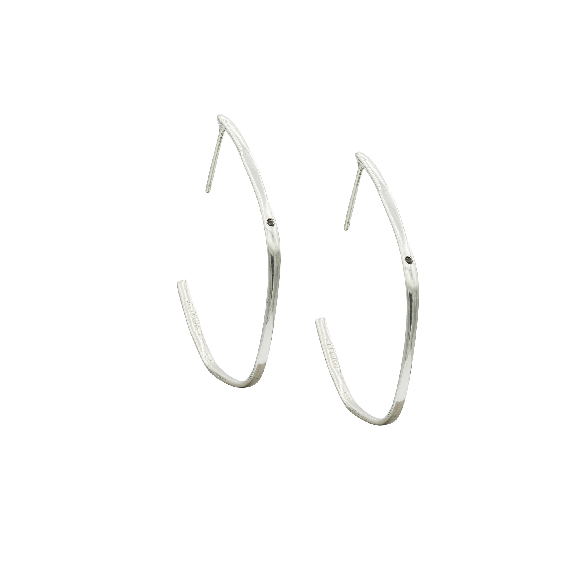 sterling silver black diamond earrings fine jewelry handmade in new york city