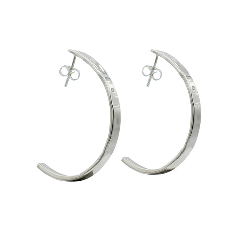 hoop statement earrings sterling silver diamond jewelry cool girl style