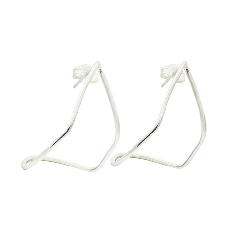 sterling silver statement hoop earrings trend jewelry fine jewelry fashion jewelry