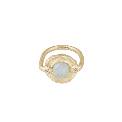 Rainbow Moonstone Ring Seen on bloggers