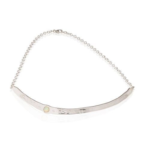 choker necklace with opals and diamonds