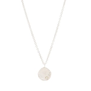 sterling silver with diamond pendant necklace