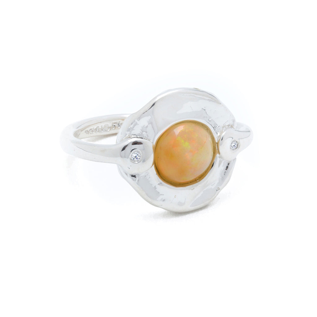 Opal & Diamonds Ring