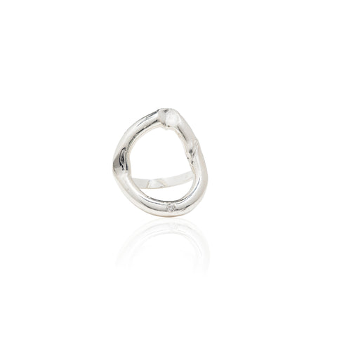 sterling silver ring with diamonds