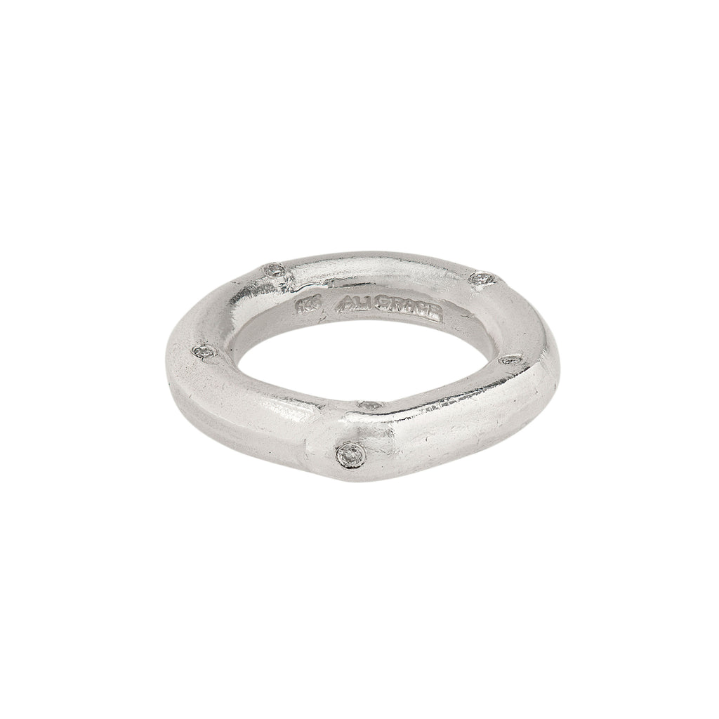 Sterling & Diamond Ring