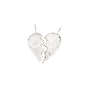 sterling silver diamond friendship broken heart charms