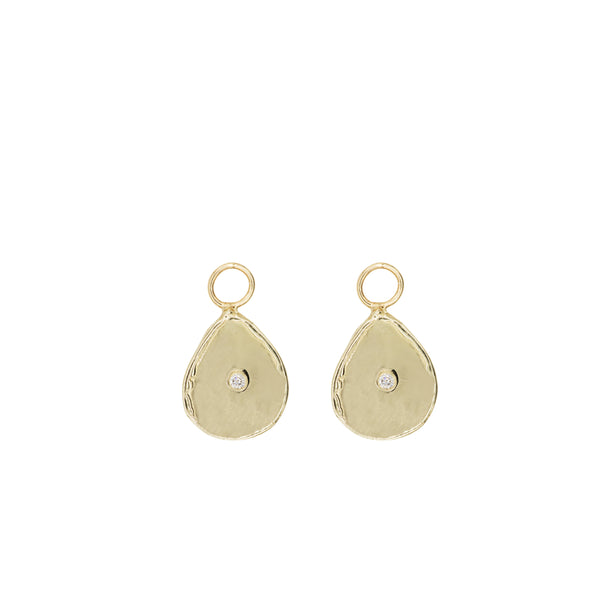 gold diamond huggies earrings diamond drops custom jewelry