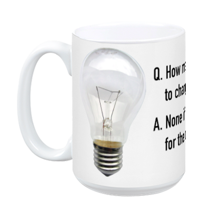 Agile Coach Light Bulb Joke Mug