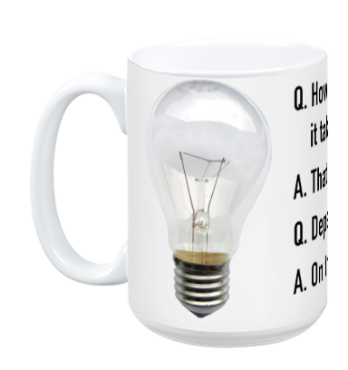 Agile Consultant Light Bulb Joke Mug