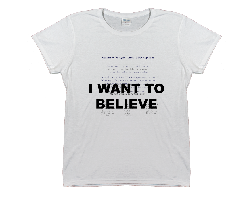 I Want to Believe Agile Manifesto T-Shirt (Women's)