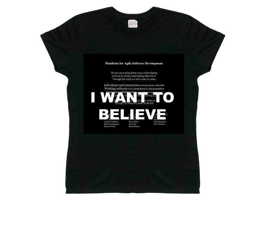I Want To Believe Agile T-Shirt (Women's - Black)