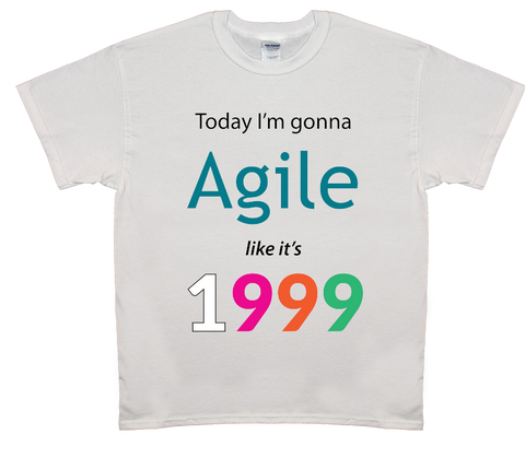Agile Like It's 1999 T-Shirt (White)