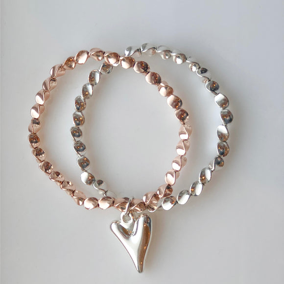Heart Double Banded Bracelet by Chance
