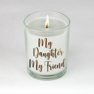 My Daughter, My Friend Candle by Clock It To Ya!