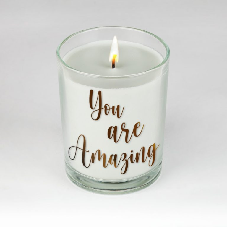 You Are Amazing Candle by Clock It To Ya!