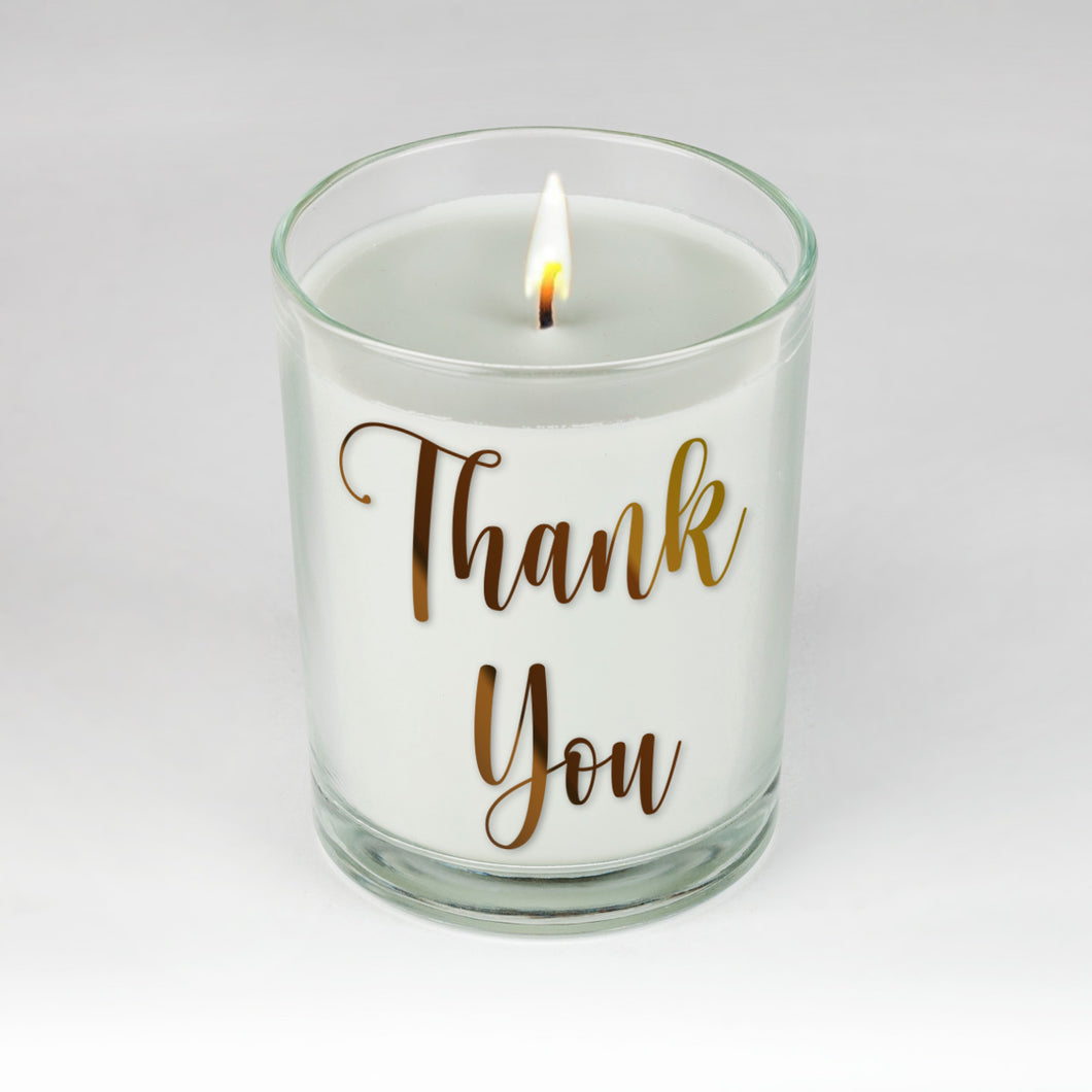 Thank You Candle by Clock It To Ya!