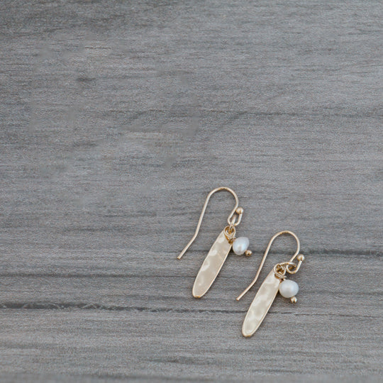 Ali Gold Earrings by Glee Jewelry