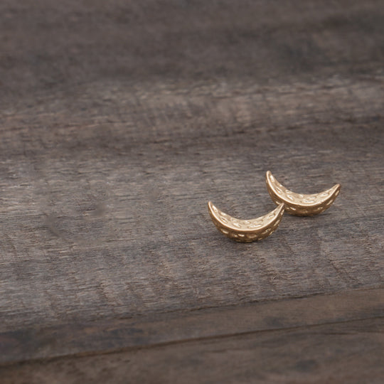 Castillo Gold Studs by Glee Jewelry