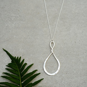 Convolution Silver Necklace by Glee Jewelry