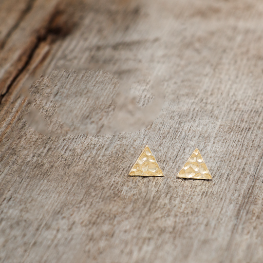 Element Gold Studs by Glee Jewelry