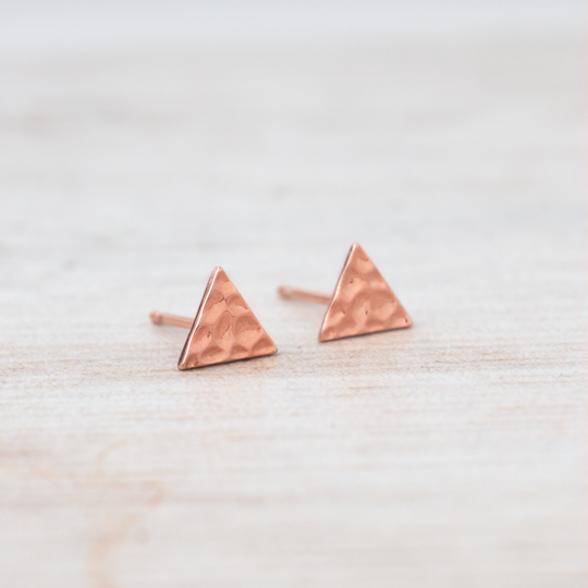 Element Rose Gold Studs by Glee Jewelry