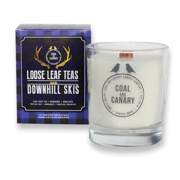 Loose Leaf Teas & Downhill Skis Candle by Coal & Canary