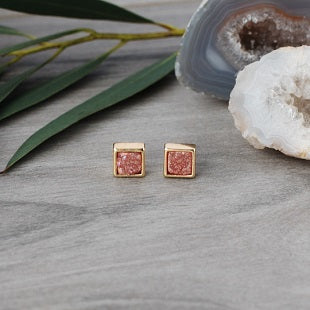 Pegasus Druzy Studs by Glee Jewelry