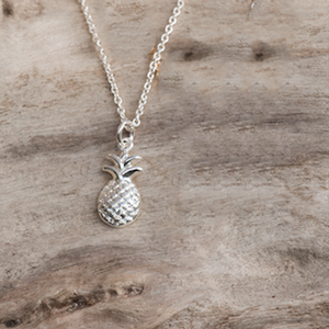 Pineapple Silver Necklace by Glee Jewelry