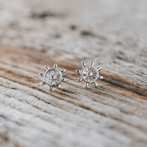Sailor Studs Silver by Glee Jewelry