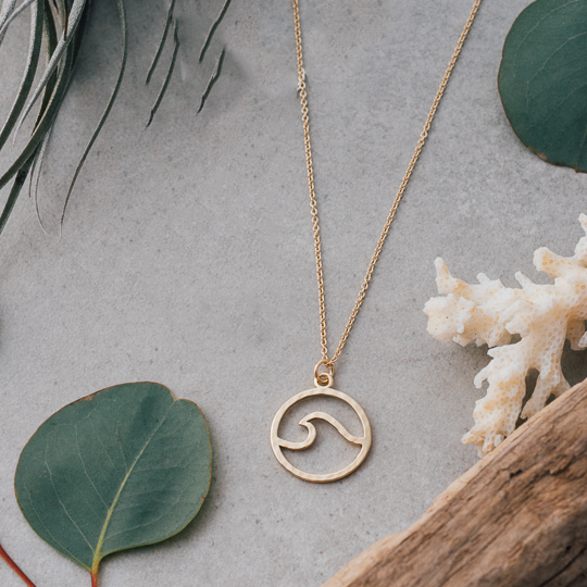Swell Gold Necklace by Glee Jewelry