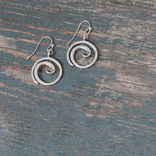 Tofino Silver Earrings by Glee Jewelry