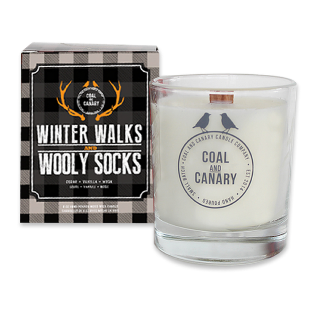 Winter Walks & Wooly Socks Candle by Coal & Canary