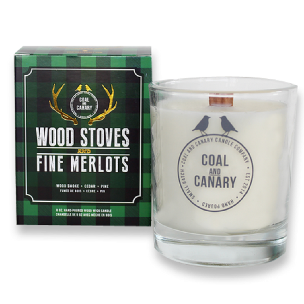 Wood Stoves & Fire Merlots Candle by Coal & Canary