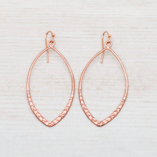 Almond Hoop Earrings by Glee Jewelry
