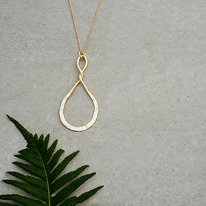 Convolution Gold Necklace by Glee Jewelry